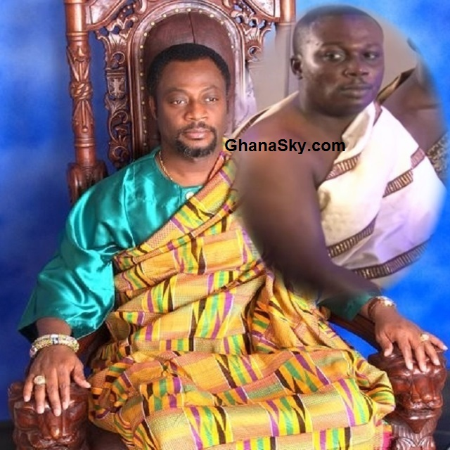 His Royal Majesty Rev. Dr. Kingsley Fletcher (Nene Drolor Bosso Adamtey I) [Left] and Prophet Nana David Frimpong