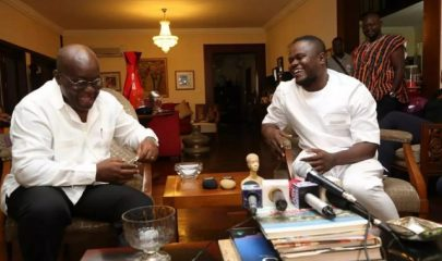 Ghanaian Gospel Musician Cwesi Oteng (Right) with President Akufo-Addo (Left