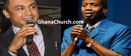 Daddy Freeze (Left) and Pastor Enoch Adeboye (Right)