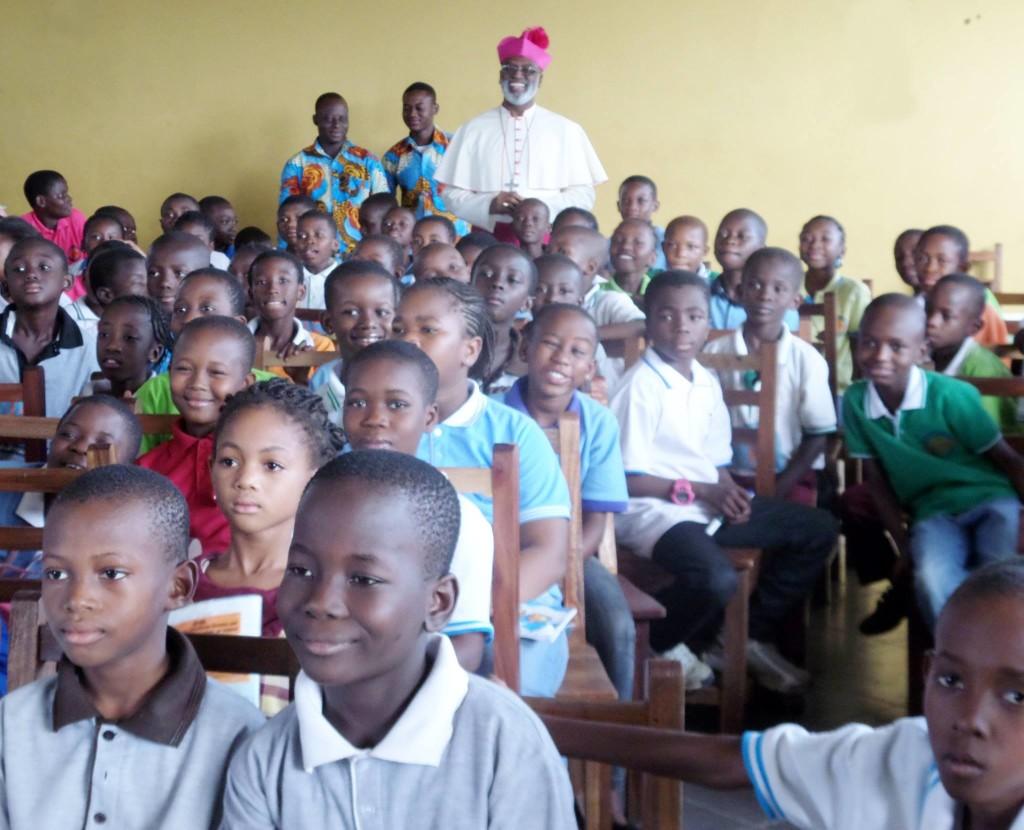 ArchBishop Charles Palmer Buckle VisitsFountain Gate International School