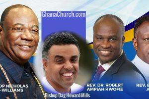 From Left: Archbishop Nicholas Duncan-Williams, Bishop Dag Heward-Mills, Rev. Dr. Robert Ampiah-Kwofi & Rev. Eastwood Anaba