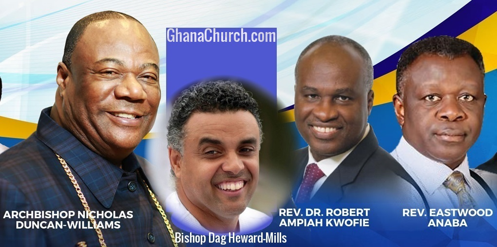 From Left: Archbishop Nicholas Duncan-Williams, Bishop Dag Heward-Mills, Rev. Dr. Robert Ampiah-Kwofi & Rev. Eastwood Anaba