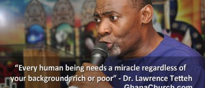 Rev. Dr. Lawrence Tetteh is Economist and Renowned International Evangelist.