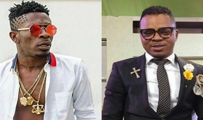 Dancehall artiste, Shatta Wale (Left) And Bishop Daniel Obinim (Right)