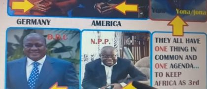Prez. Nana Addo, Prez. Mahama, Abeiku Santana etc Displaying illuminati Signs