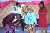 Zambian prophet' removing a lady's underwear in church