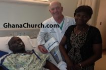 Apostle Dr Michael Ntumy (left), Martha and Dr Weaver