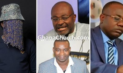 Anas Aremeyaw Anas (Left), Kwesi Nyantakyi (Right), Kennedy Agyapong (Center Top) and Chairman Wontumi (Center Down)