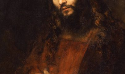 Christ with Arms Folded painting by Rembrandt, The Hyde Collection, Photograph by Joseph Levy
