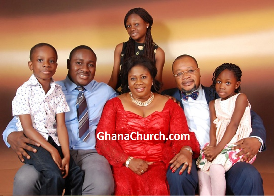 Bishop Gideon Titi-Ofei, wife Olivia and children