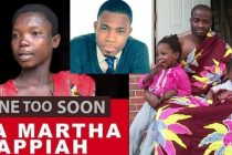 Late Ama Appiah Martha, Adom FM's Kofi Adomah and Evangelist Emmanuel Kwame Addai with his kids