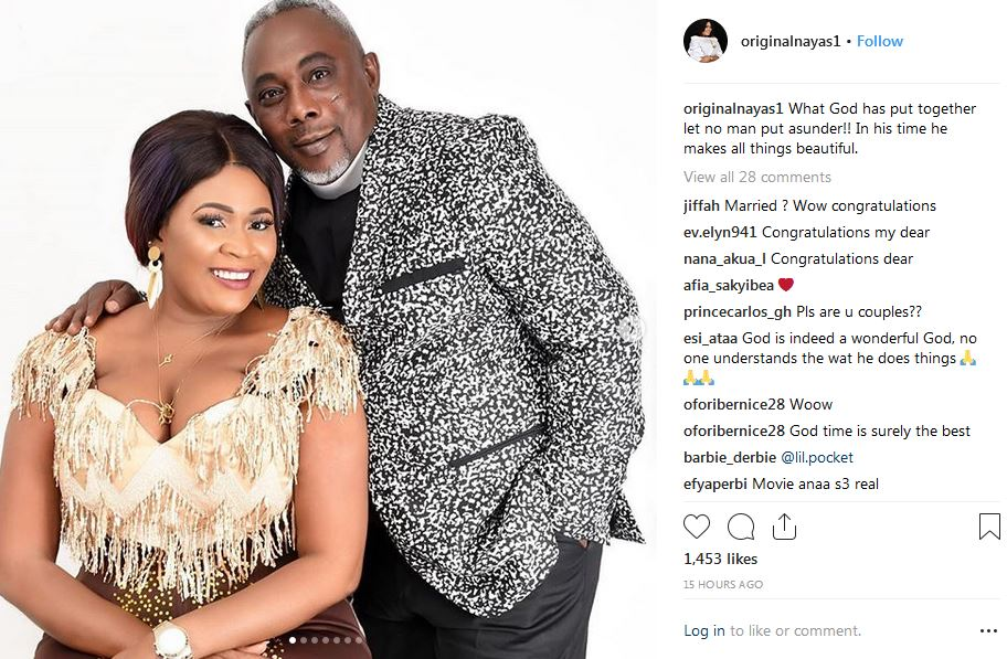 Actress Nayas 1 and Actor Apostle John Prah allegedly tied the knot