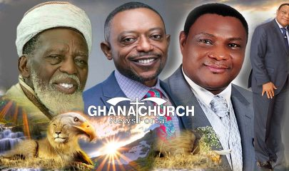 Chief Imam of Ghana, Sheikh Dr. Osmanu Nuhu Sharubutu, Apostle Dr. Isaac Owusu Bempah and Apostle General Sam Korankye Ankrah