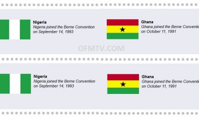 Nigeria and Ghana are already part of the Berne Convention.