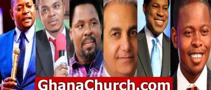 Pastor Alph Lukau, Bishop Daniel Obinim, Prophet TB Joshua, Pastor Benny Hinn, Pastor Chris Oyakhilome, And Prophet Shepherd Bushiri.