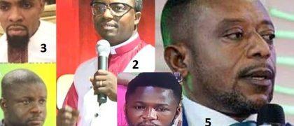Evangelist Appiah Dominic, Rev Ebenezer Adarkwa Yiadom, Rev. Obofour, Agya Nkuto and Rev. Owusu Bempah