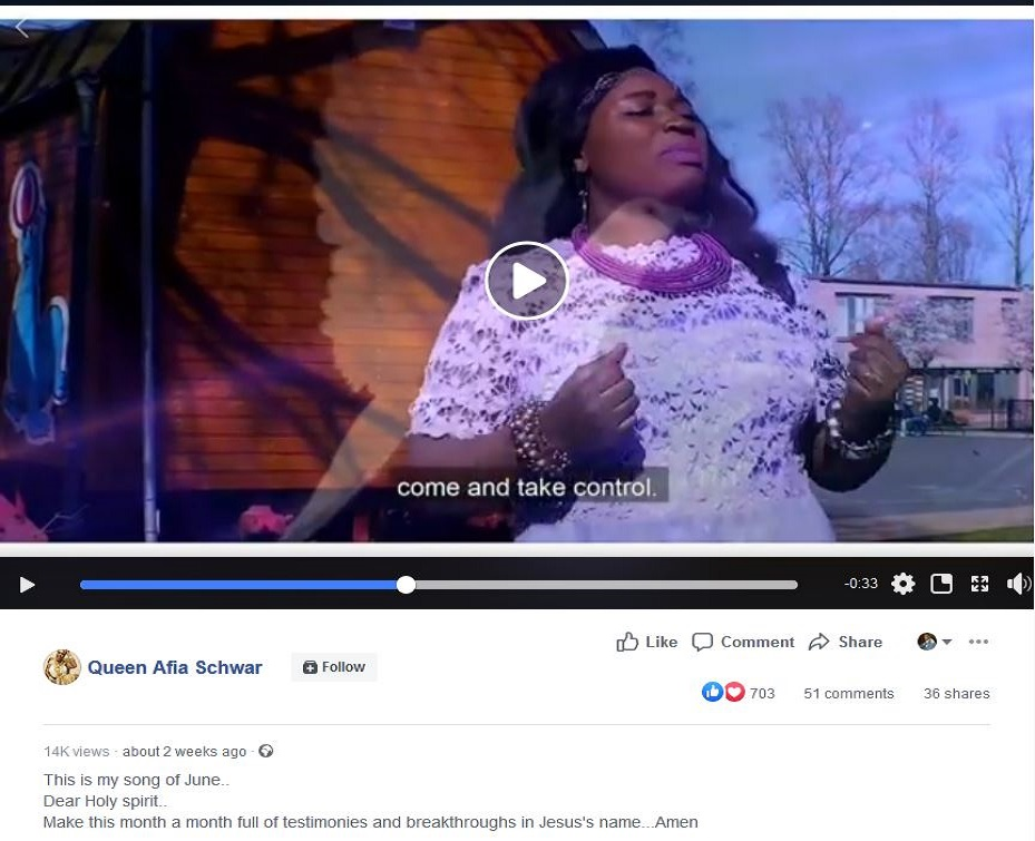 Afia Schwarzenegger writes on her Facebook walls