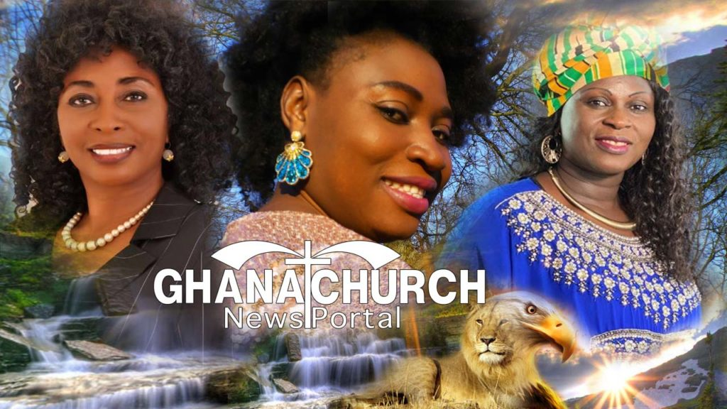 Rev Dr Mary Ghansah, QueenLet and Esther Smith